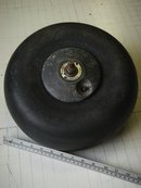 Vintage _Genuine _ AIRPLANE / 5-50-4 AEROPLANE  DUNLOP ECTA Rubber Tire with Alloy Rim ...possible Cessna or Piper _Heavy Weighs 11.75 LBS.