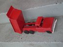 Toys PRESSED STEEL  1950's NYLINT Toys Red Dump Truck with Genuine Rubber Wheels _ 15 1/2 Inches Widest