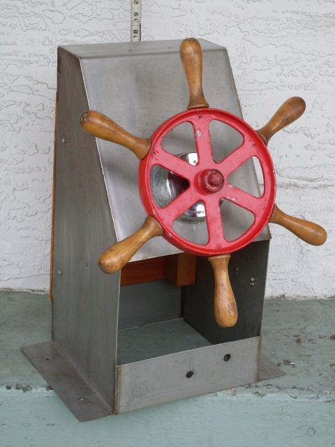 Nautical  Marine _ Vintage Motor Boat _Ship _ Ships Steering Wheel 14 3/4