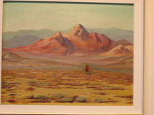 Painting by Edward Roland b. 1911, Indian on Mesa
