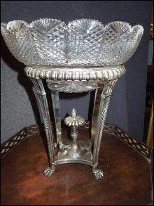 1807 Silver and Crystal Epergne by Matthew Boulton