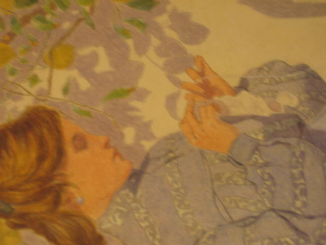 Lucchesi,E., 1904 Gouache, Young Women under Lemon Tree
