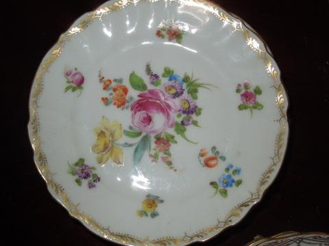 28 pieces of hand-painted Dresdan-1900