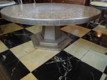 Italian mid-modern mosaic top round table