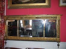 1830 gold leaf overmantel mirror