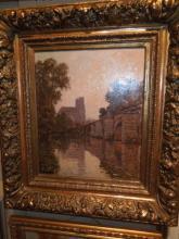 Victor Brugairolles, 19th c oil on panel