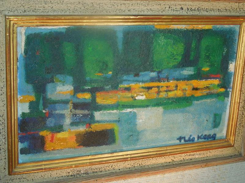Theo Kerg, Boats on Canel- 1941, OOC