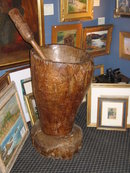 19thc, island mortar and pestle, lignum Vitae Wood