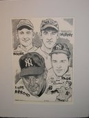 Pen and Ink Sports Drawings, by Charlie McGill