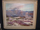 Roy Ropp Oil painting of Wild Verbena in Desert