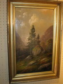 Pair of 19th century American Landscapes by NY artist Alden Sampson