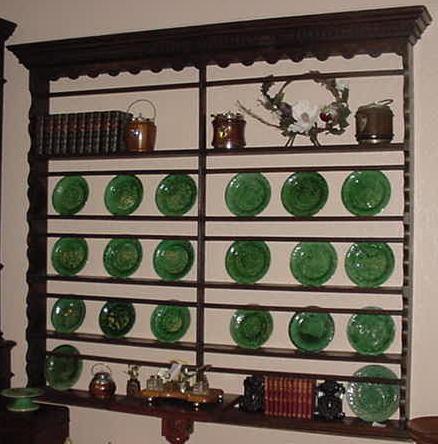 English Oak Hanging Plate Rack