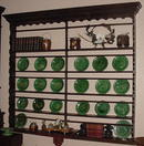 English Oak Hanging Plate Rack