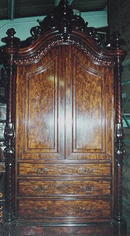 Monumental English Rosewood Linen Press, Please visit our website, www.castlehouseantiques.com