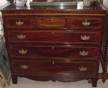 Inlaid Mahogany English Chest