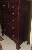 Georgian English Mahogany Chest, c1800