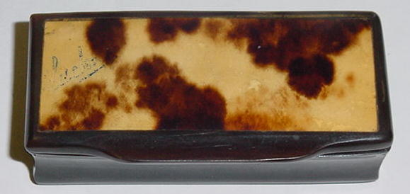 French Tortoise Shell & Horn  Snuff Box