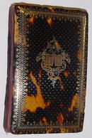 French Tortoise Shell Card Case, Gold & Silver Inlay, Please visit our website, www.castlehouseantiques.com