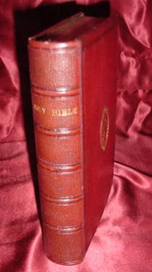 Red Leather Holy Bible, 1871