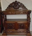 Victorian Carved Oak English Server