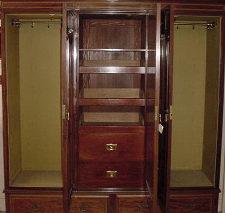 Extraordinary English Mahogany Wardrobe, Please visit our website, www.castlehouseantiques.com