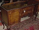 English Burl Walnut Queen Anne Style Sideboard, Please visit our website, www.castlehouseantiques.com