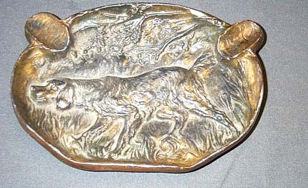 Dog Motif Ashtray
