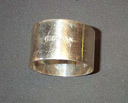 King's Own Borders Engraved Napkin Ring