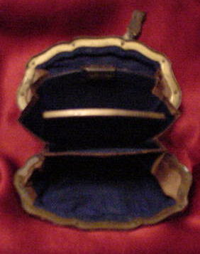 Brass, Ivory, and Silver Coin Purse, Please visit our website, www.castlehouseantiques.com
