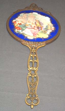 Bronze Hand Mirror, Please visit our website, www.castlehouseantiques.com
