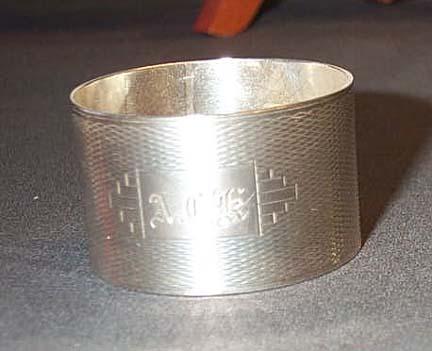 English Monogrammed Napkin Ring