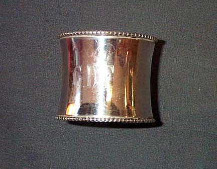 GDF Monogrammed Napkin Ring