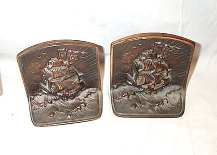 Pair Of Vintage Cast Iron Book Ends
