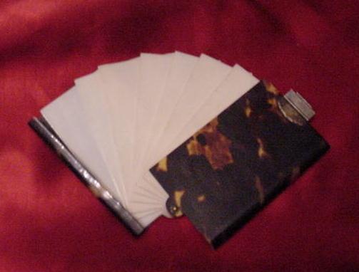 Tortoise Shell & Ivory Dance Card