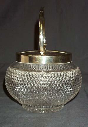 Pressed Glass Biscuit Jar