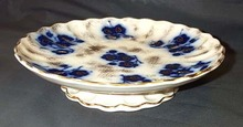 Flow Blue Compote, Please visit our website, www.castlehouseantiques.com