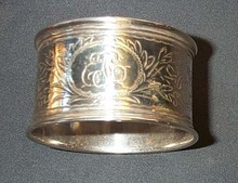 EJC Monogrammed Napkin Ring