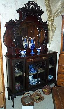 Victorian Mahogany Etagere