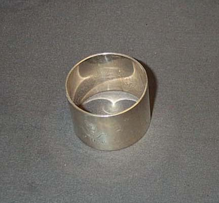 Sterling Silver Napkin Ring With Scottish Borders