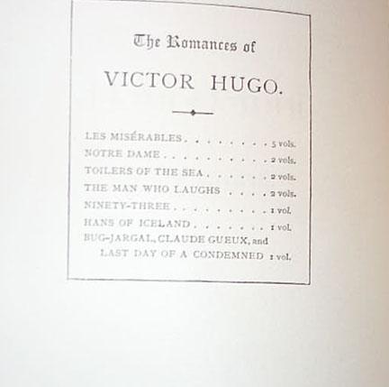 Victor Hugo - Fourteen Volume Complete Set Of The Romances Of Victor Hugo
