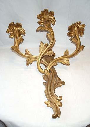 Pair Of Elegant Bronze Sconces