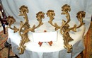 Pair Of Elegant Bronze Sconces