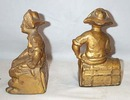 Pair Of Gilded Cast Iron Book Ends