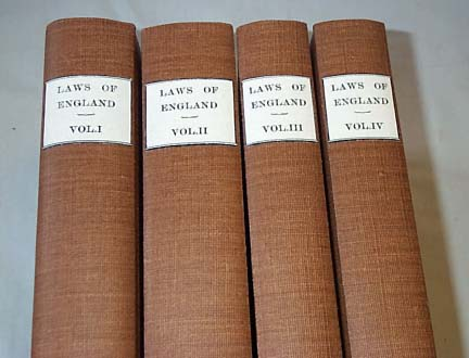Blackstone's Commentaries or Laws Of England