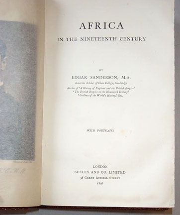 Edgar Sanderson - Africa in the Nineteenth Century , 1898