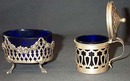 Set Of Victorian Sterling Mustard Pot And SaltCellar