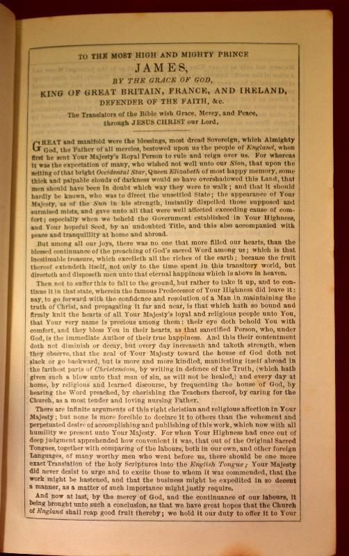 KJV HOLY BIBLE, c.1895, BLACK LEATHER, GILDED