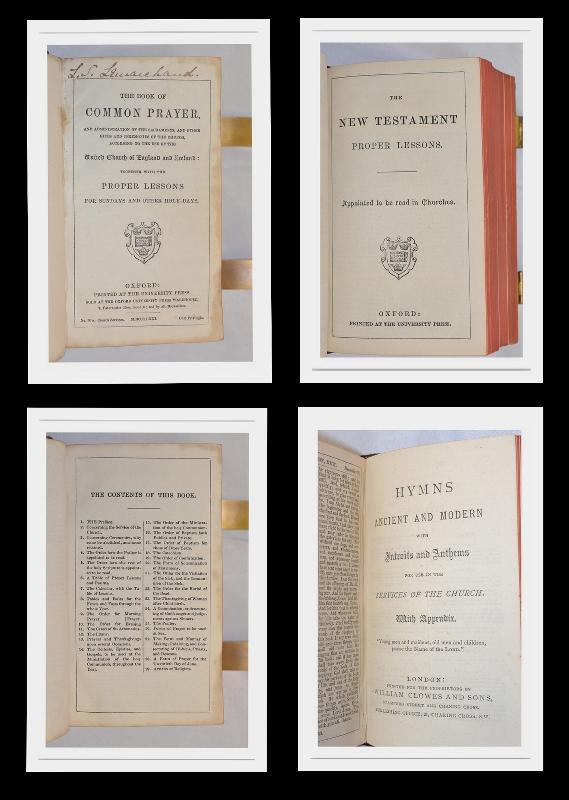 1871,CHURCH SERVICES, COMMON PRAYER, NEW TESTAMENT, LEATHER, FINE!