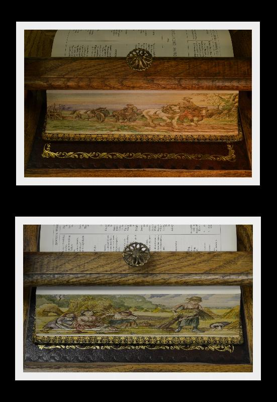 Double Fore Edge Painting, Moore's Poetical, 1875 Fine Gilded Binding