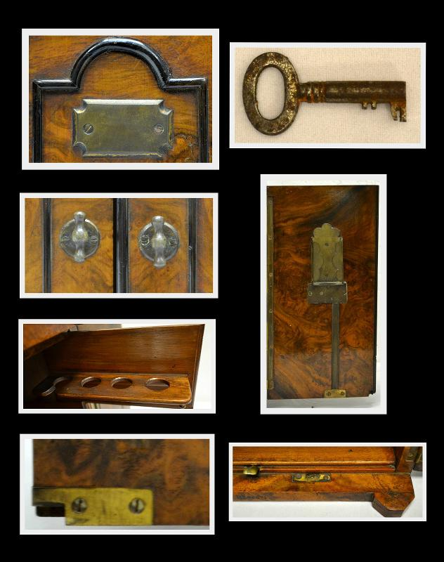 Antique English Smoker's Cabinet, Circa 1887